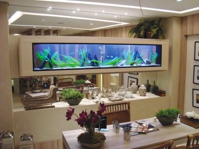 de parede aquario aquario decoracao por que nao pensei nisso 6 #355F96 1024x768