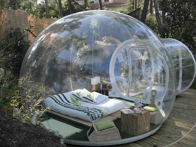 Buble-tent, buble-tree, bolha-para-exterior, bolha-decorativa-para-quintal, decoracao, design-exterior, quintal, quintais, ar-livre 1