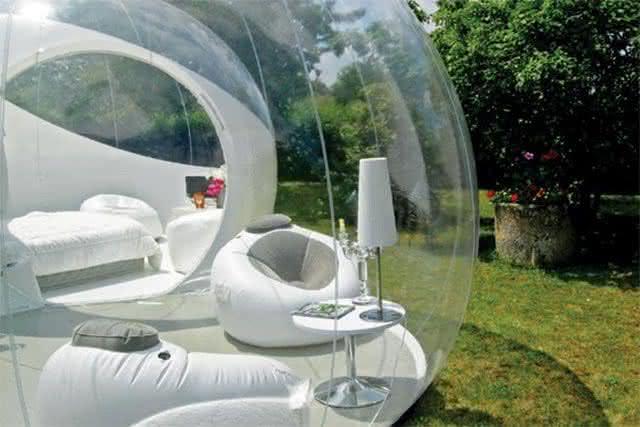 Buble-tent, buble-tree, bolha-para-exterior, bolha-decorativa-para-quintal, decoracao, design-exterior, quintal, quintais, ar-livre
