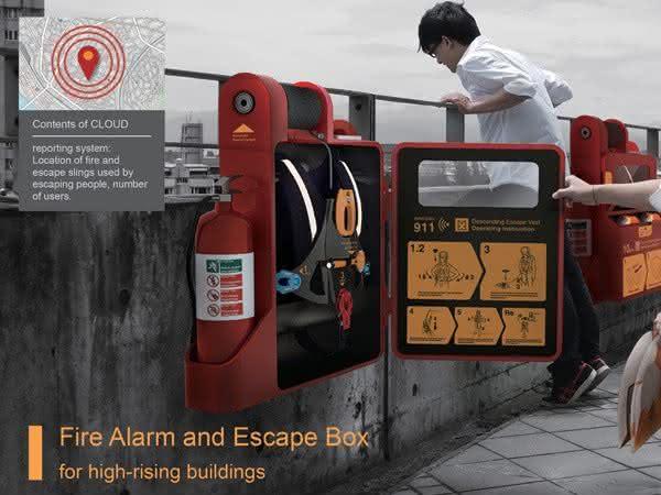 Fire-Alarm-and-Scape-Box, Equipamento-de-segurança-para-te-salvar-predios-em-chamas, porque-nao-pensei-nisso