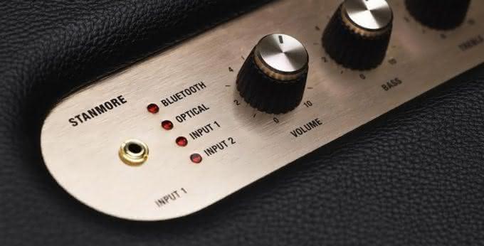 marshall-stanmore-bluetooth-loudspeaker, caixa-de-som-marshall, caixa-de-som-wifi-marshall, porque-nao-pensei-nisso 1