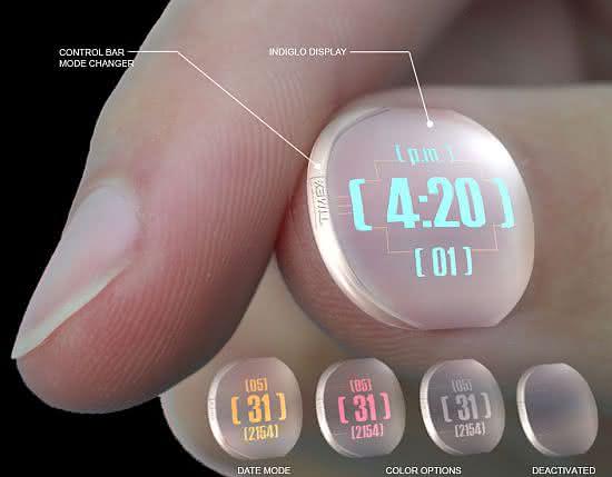 Disposable-Nail-Watch, Unha-Wearable, wearable, wearables, gadgets-de-vestir, tecnologia-para-vestir, wearable-computer-technology, wearable-computer, por-que-nao-pensei-nisso