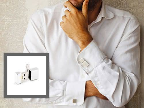 USB-Cufflinks, Rustys-Wired-Serie,wearable, wearables, gadgets-de-vestir, tecnologia-para-vestir, wearable-computer-technology, wearable-computer, por-que-nao-pensei-nisso