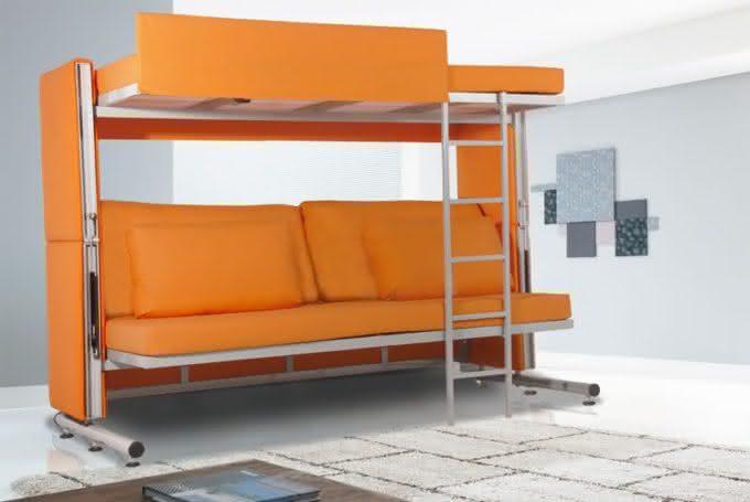 Como decorar ambientes pequenos 5 exemplos de m veis for Sofa que vira beliche