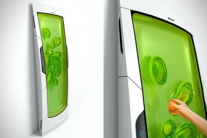 Electrolux-Bio-Robot-Refrigerator, geladeira-gel-electrolux, geladeira-inovadora, geladeira-futuro, geladeira-com-gel, gelatinosa, por-que-nao-pensei-nisso