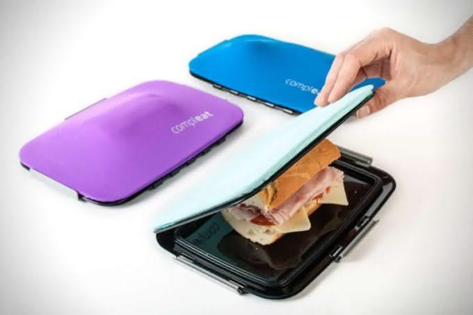 Compleat-FoodSkin-Lunchbox, lancheira-flexivel, lancheira-inovadora, marmita-moderna, por-que-nao-pensei-nisso