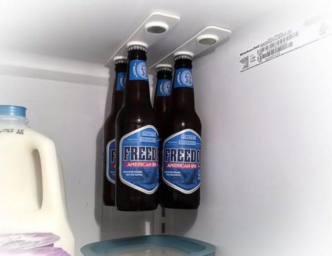 BottleLoft, varal-de-cerveja, suporte-de-cerveja, organizar-geladeira, por-que-nao-pensei-nisso