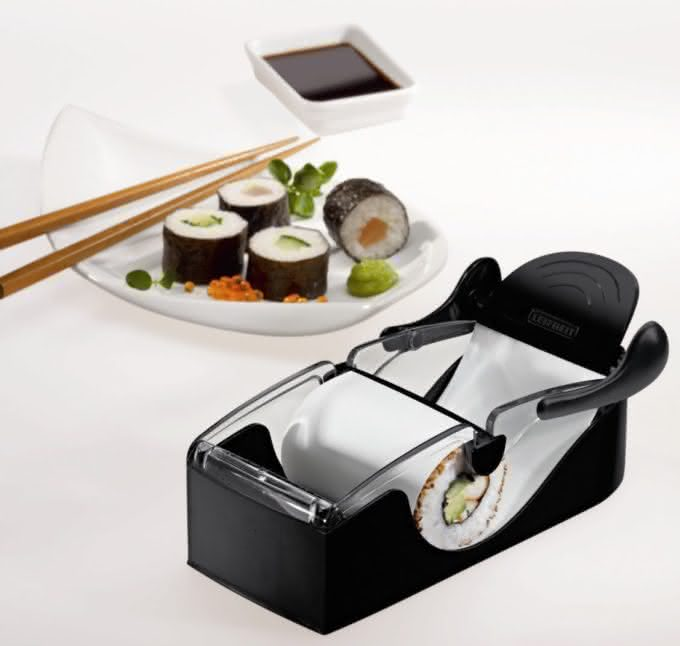 Perfect-Sushi-Roller-by-Leifheit, maquina-de-fazer-sushi, como-fazer-sushi, como-fazer-comida-japonesa, sushi-roll, por-que-nao-pensei-nisso, pnpn 3