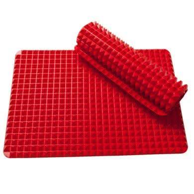 Pyramid-Pan, receita-gruda-forno, base-para-forno, queimar-receitas-no-forno, base-de-silicone-forno, por-que-nao-pensei-nisso 4