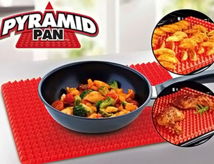 Pyramid-Pan, receita-gruda-forno, base-para-forno, queimar-receitas-no-forno, base-de-silicone-forno, por-que-nao-pensei-nisso 6