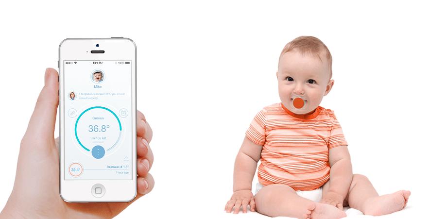 Pacif-i, Smart-Pacifier, chupeta-inteligente, chupeta-monitora, chupeta-febre, febre, chupeta-termometro, termometro, temperatura-bebe, por-que-nao-pensei-nisso 2