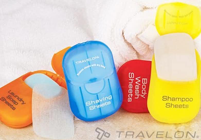 travelon, travel-sheets, sheets-dissolve-in-water, soap, laundry, sabonete, shampoo, sheet, viagem, para-viagem, dissolve-em-agua, por-que-nao-pensei-nisso, pnpn