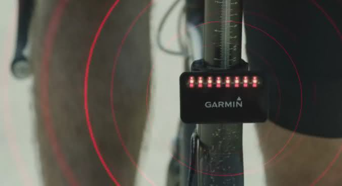 Garmin Varia Bike Rearview Radar Sensor - In Action